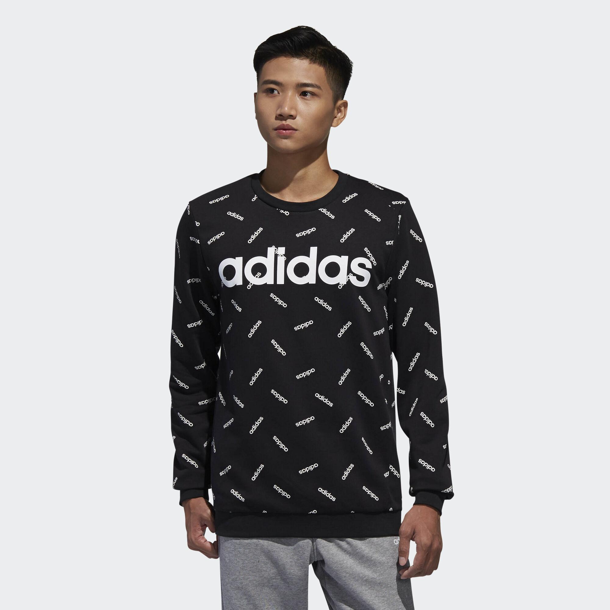 adidas Graphic Sweatshirt Black | adidas Vietnam